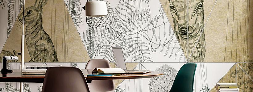 Графика в интерьере: 75 способов создания оригинального арт-пространства у себя дома
