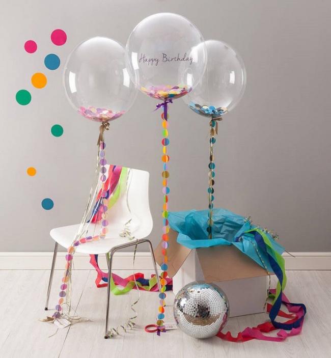 Необычные прозрачные шары порадуют Вашего малыша в день рождения