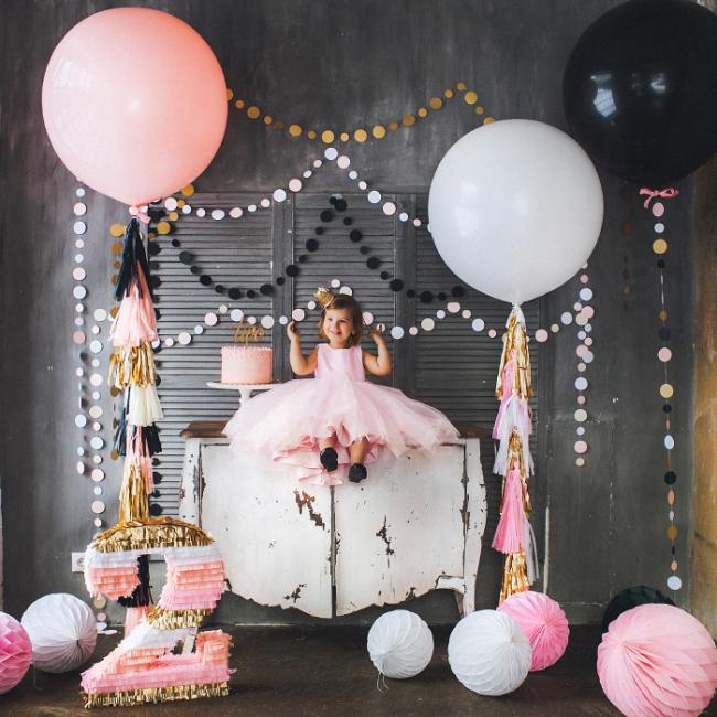 Гармоничное сочетание оттенков в оформлении детской комнаты ко дню рождения