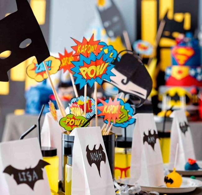 Отличная идея оформления дня рождения для мальчика в стиле супергероев