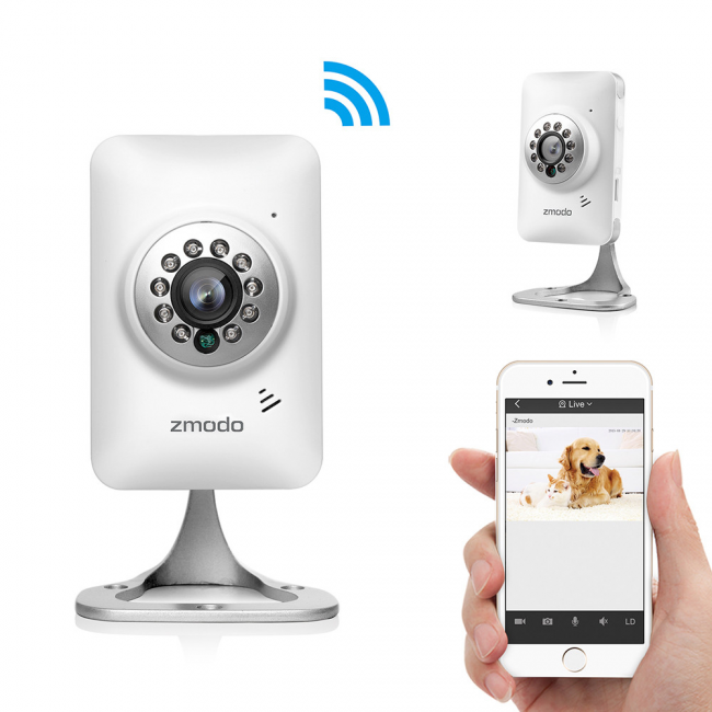 Zmodo Mini WiFi 720p HD Wireless Indoor Video Security Camera