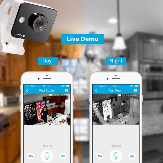 Изображения, отснятые камерой Zmodo ZM - SH75D001 в ночное время, поражают своей четкостью
