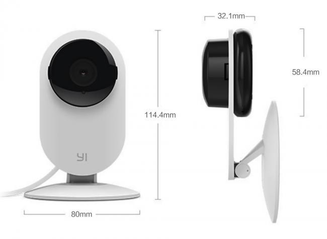 Камера видеонаблюдения XiaoYi от Xiaomi имеет компактные размеры