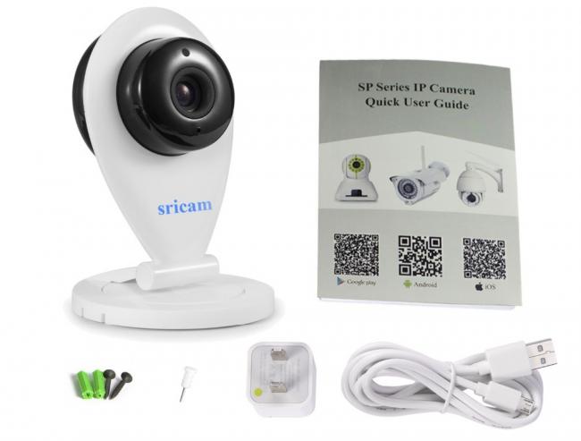 Комплектация камеры видеонаблюдения SP009 от Sricam