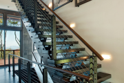 Фото 65 Лестница на второй этаж (120 фото): современные варианты оформления в частном доме