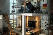Фото 23 Лестница на второй этаж (120 фото): современные варианты оформления в частном доме
