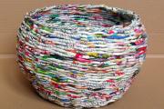 Фото 50 Плетение корзин из газетных трубочек: мастер-классы и советы для рукодельниц