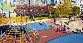 Покрытие для детских площадок из резиновой крошки: безопасность прежде всего фото