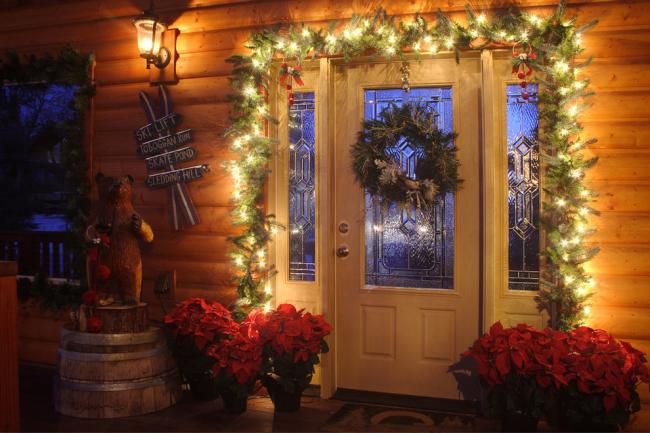 Цветет пуансетия в канун католического Рождества. Поэтому ее часто используют в качестве домашнего декора
