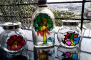 Фото 10 Роспись по стеклу витражными красками: мастер-класс по технике и 75 достойных воплощения идей