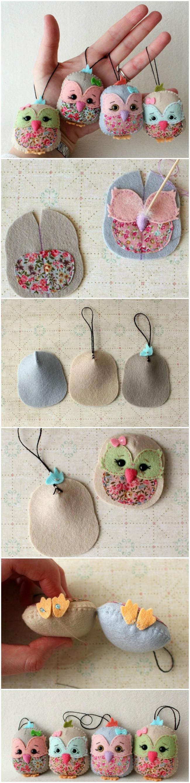 Мастер класс по изготовлению небольших декоративных совушек из фетра