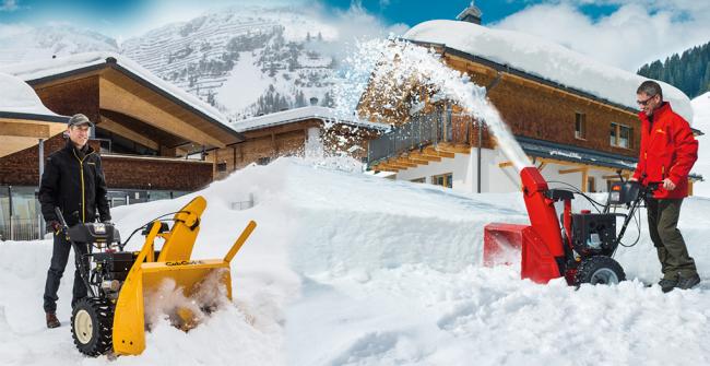 Одна модель снегоочистительной машины в ярких цветах
