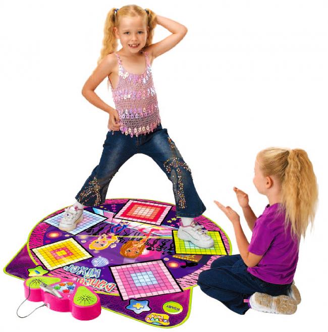 Музыкальный коврик DANCE MIXER PLAYMAT для детей имеет всего 5 кнопок, которые отличаются по цвету и расположены на комфортном для детей расстоянии
