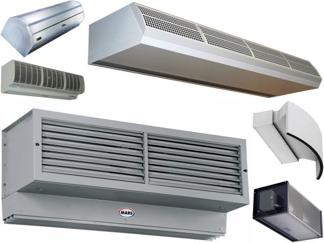 Разновидность воздушно-тепловой завесы