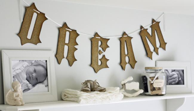 Буквы имени малыша и других надписей можно сделать своими руками