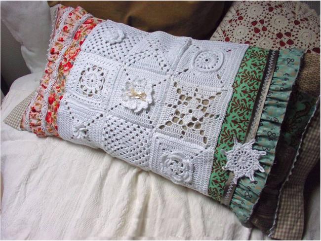 Наволочка на подушечку, сделанная своими руками