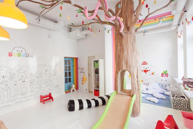 Маркерная краска позволит детям самим декорировать стены своими рисунками