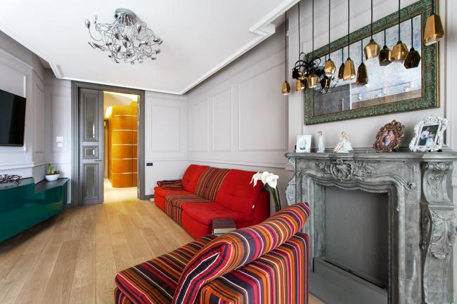 Декоративный камин своими руками в стильной гостиной комнате