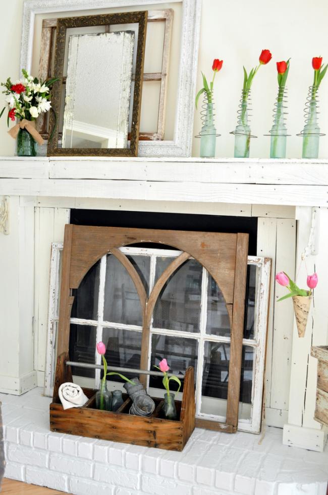 Викторианский стиль оформления декоративного камина