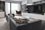 Фото 12 Корпусная мебель для гостиной в современном стиле: обзор 90+ трендовых решений