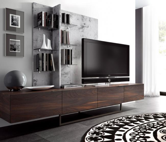 Небольшой, но довольно функциональный мебельный гарнитур в гостиной