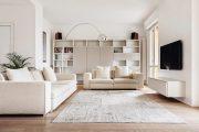 Фото 26 Корпусная мебель для гостиной в современном стиле: обзор 90+ трендовых решений