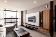 Фото 1 Корпусная мебель для гостиной в современном стиле: обзор 90+ трендовых решений