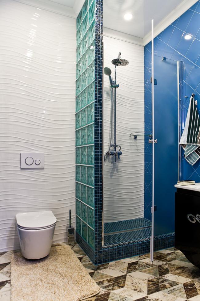 Душевая кабина своими руками в ванной комнате, совмещенной с туалетом