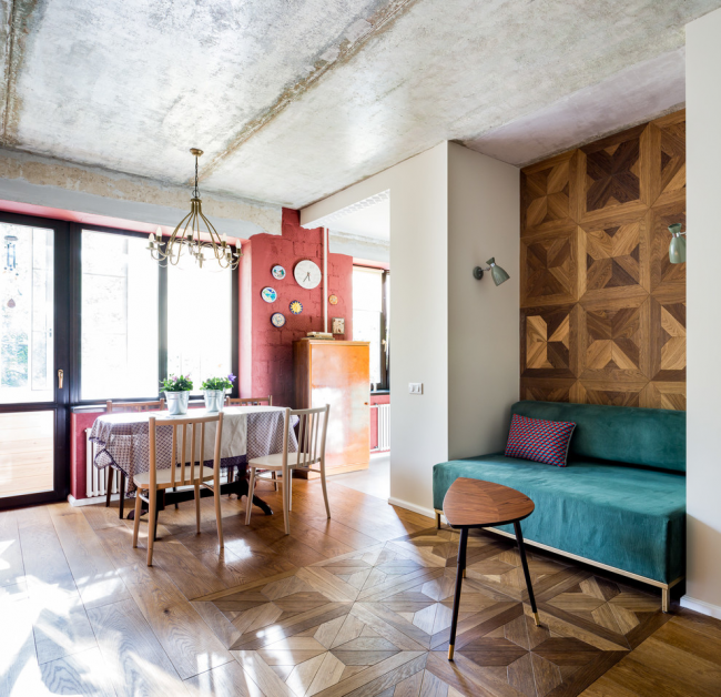 Стиль лофт в интерьере двухкомнатной квартиры