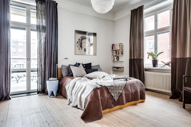 Портьеры для спальни помогут сделать интерьер более законченным