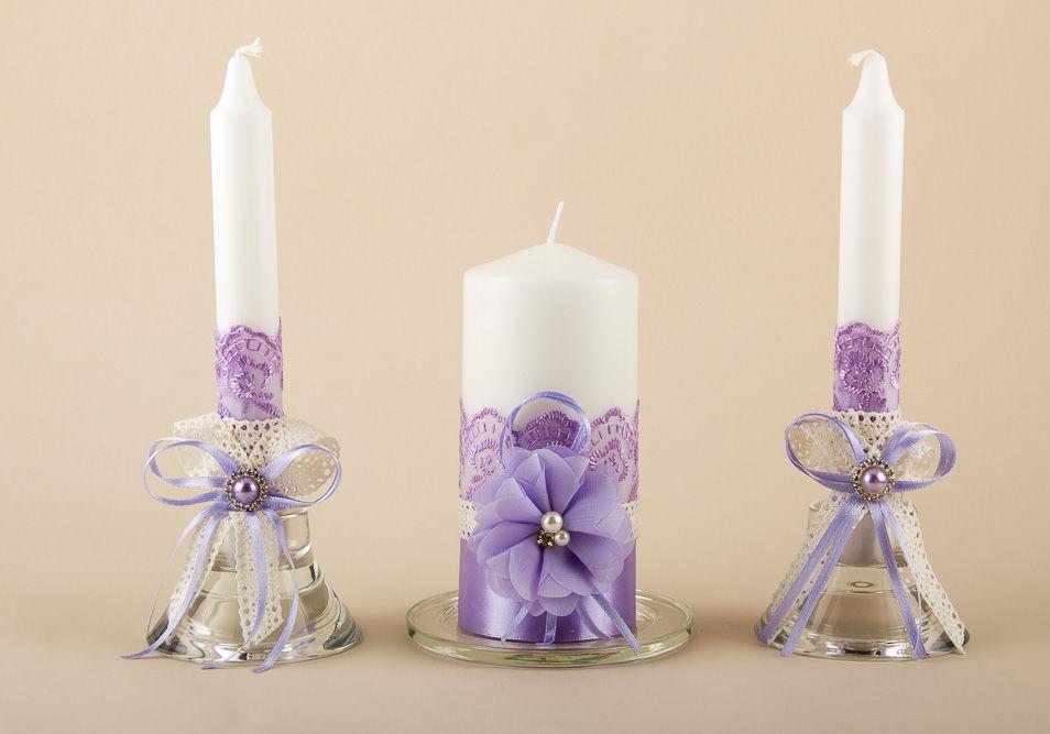 Украшение свадебных свеч своими руками 640