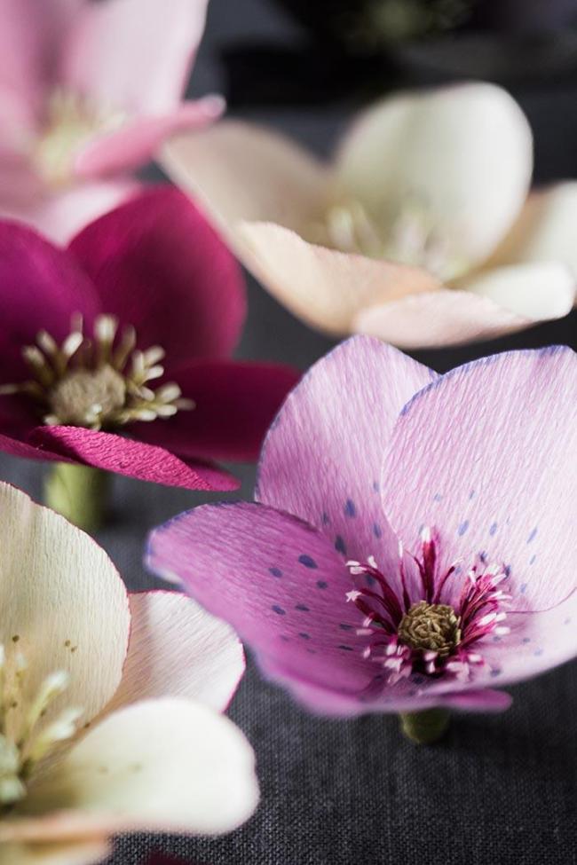 Нежные цветы из бумаги