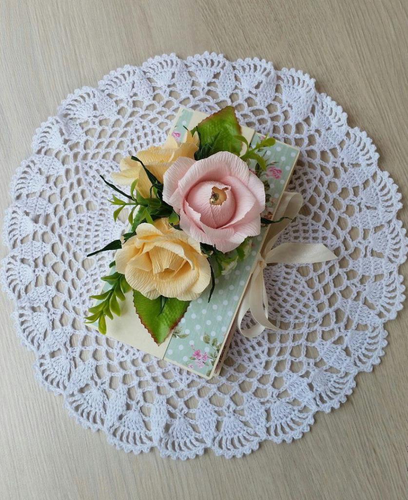 Цветы из гофрированной бумаги своими руками Мастер-класс