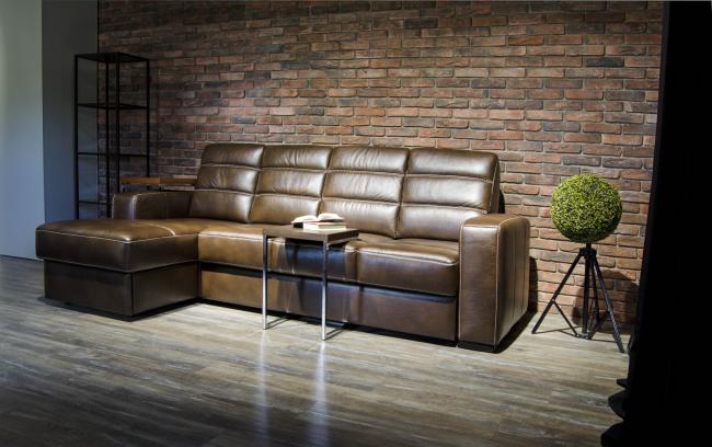 диваны Аскона: каталог и цены: красивый кожаный диван Дуглас