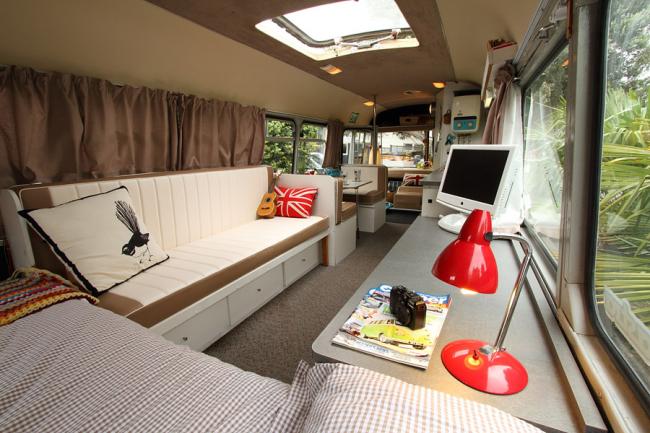 Переделка автобусов в просторное мобильное жилище - бизнес, имеющий востребованность
