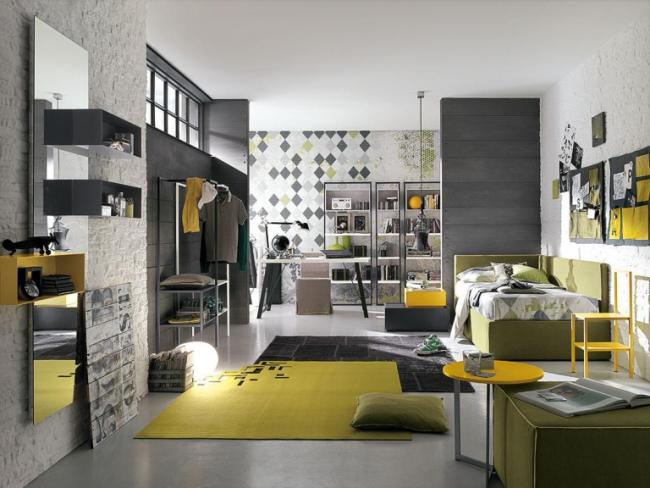 Этажерки ИКЕА в современном интерьере поможет заменить одежный шкаф