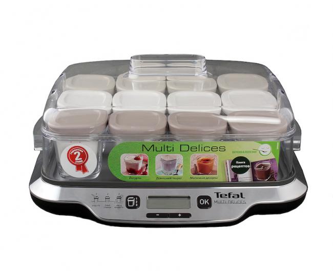 Tefal YG6528 81 – йогуртница c ЖК- дисплеем для приготовления натурального высококачественного кисломолочного продукта в домашних условиях