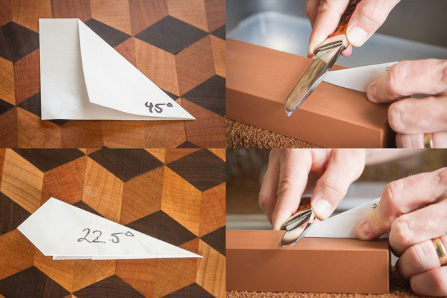 Легкий способ измерить угол для заточки ножей