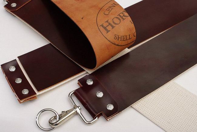 Небольшой лоскут кожи поможет сделать главную кухонную пренодлежность более острой