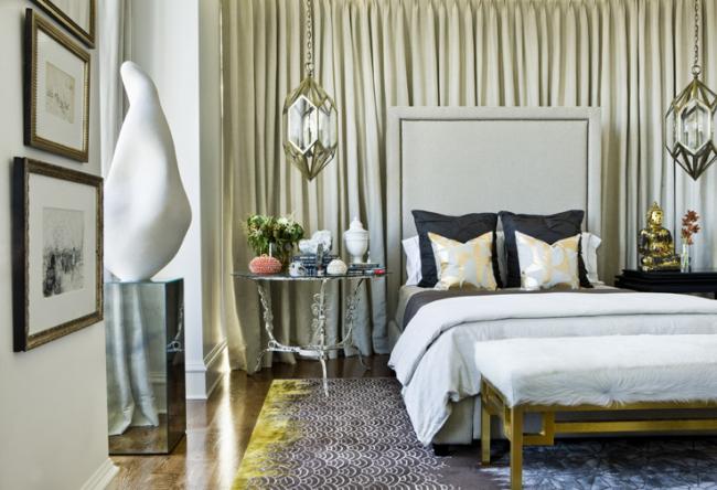 Кровать с высоким изголовьем отлично впишется в интерьер классического стиля