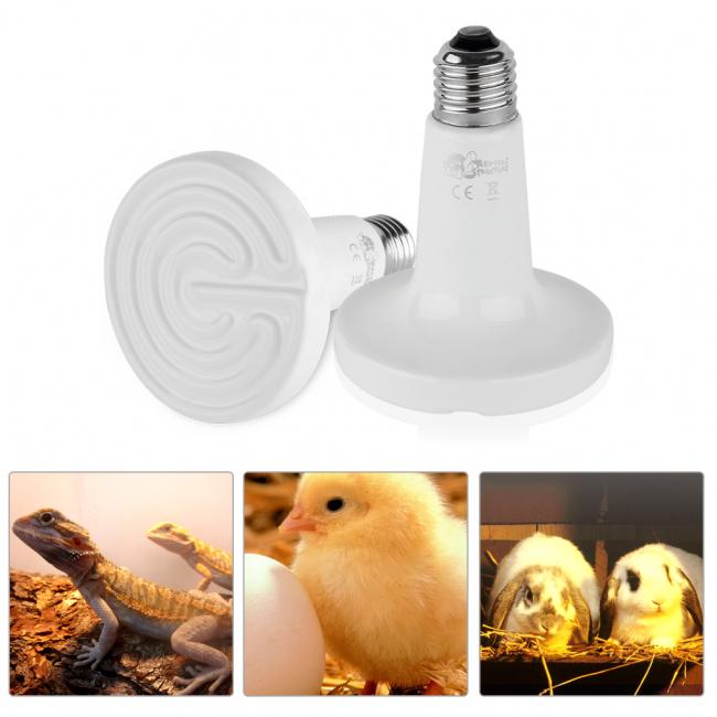 Для обогрева и освещения курятников, террариумов и клеток для кроликов можно купить специальные лампы
