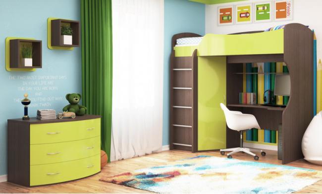 Удобная и практичная мебель для детской комнаты, которая занимает совсем немного места