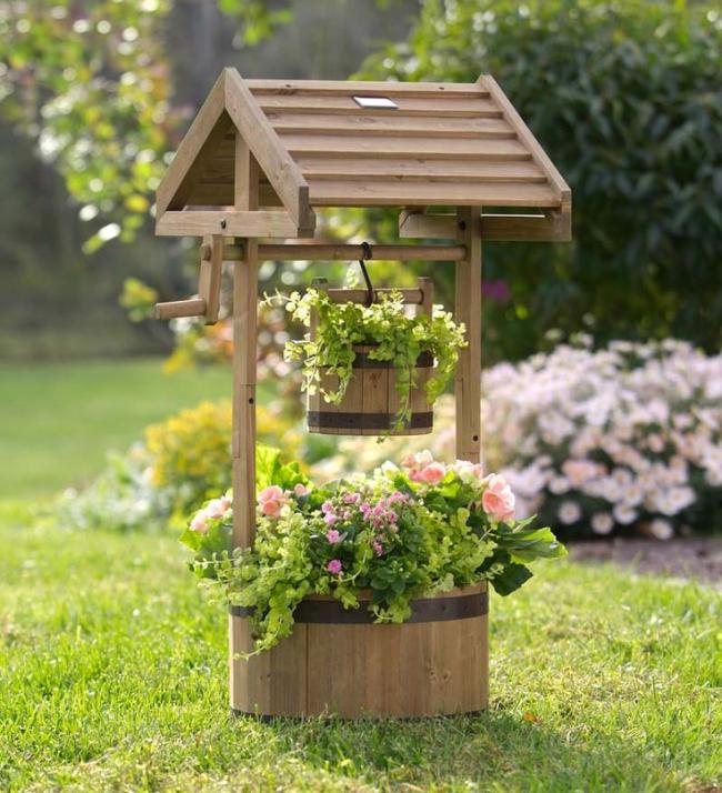 Фото украшение сада своими руками