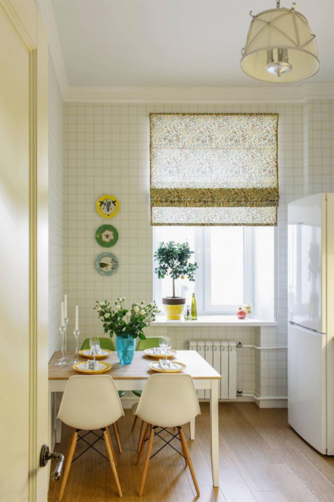 Обои для кухни: 100 идей современных интерьеров