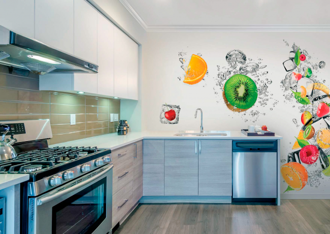 фото обои на кухню