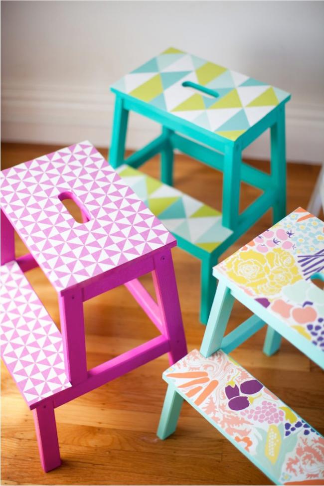 Даже самые обычные детские стулья могут стать эксклюзивным, необычным предметом интерьера