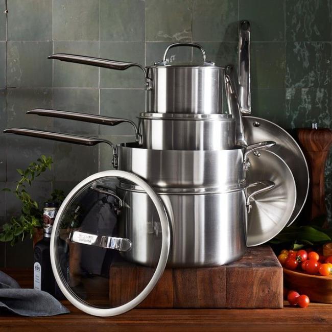 Посуда для стеклокерамической плиты: Алюминиевый набор варочной посуды с утолщенным дном
