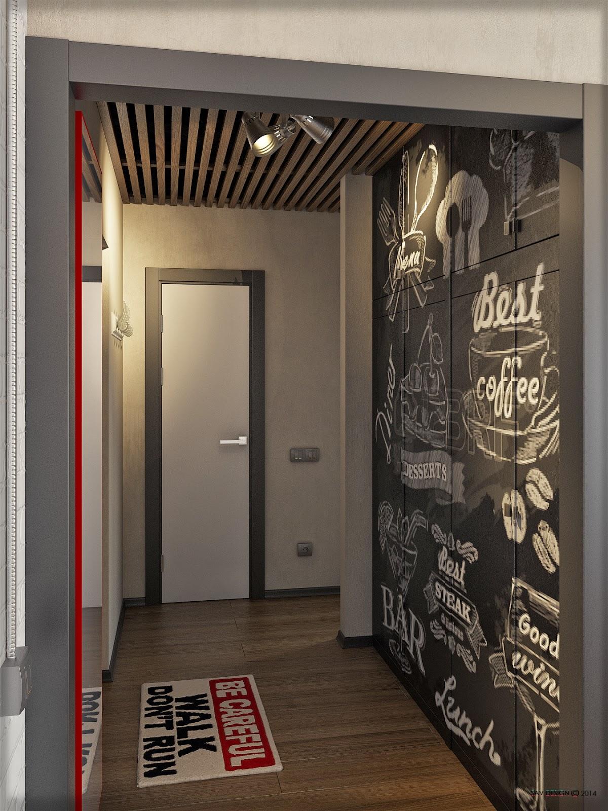 Прихожая в стиле лофт: 85 идей современного коридора 2017
