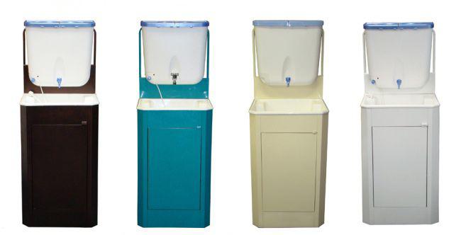 Цветовой ассортимент дачных мойдодыров с водонагревателем