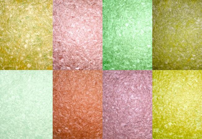 Цветная коллекция шелковых жидких обоев